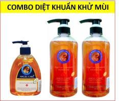 Combo 2 sữa tắm diệt khuẩn khử mùi 600ml + 1 gel rửa tay diệt khuẩn khử mùi Angel Care 300ml