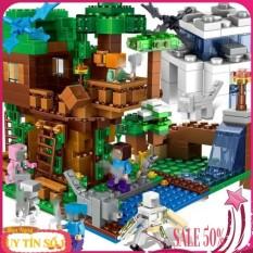 Lego Minecraft ngôi nhà trên rừng đầy tuyết [quà tặng siêu hot] NO.3232, chất lượng đảm bảo an toàn đến sức khỏe người sử dụng, cam kết hàng đúng mô tả