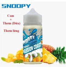 SnoopyPassion coast 100ML hương vị Dứa cam dưa hấu . Đặc biệt rất thơm ngọt (100ml – 3mg – 70VG/30PG) dung cho Mech.pod.box @