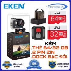 Kèm thẻ 64gb hoặc 32gb camera 4k Eken H9r bản mới V8 nâng cấp 20MP Tặng 1 pin và 1 dock sạc đôi – camera wifi ip xe máy oto phượt chống nước chống sốc chống rung – camera hành trình phượt mini