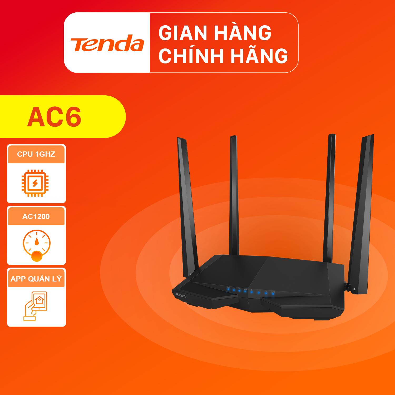 Tenda Thiết bị phát Wifi AC6 Chuẩn AC 1200Mbps – Hãng phân phối chính thức