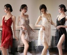 Váy/Đầm Ngủ Ren Hoa Xẻ Tà Cao Cấp 5128