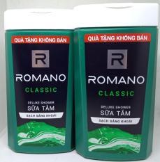 Bộ 2 Chai Sữa Tắm Hương Nước Hoa Nam Romano 150g Hàng Khuyền Mãi