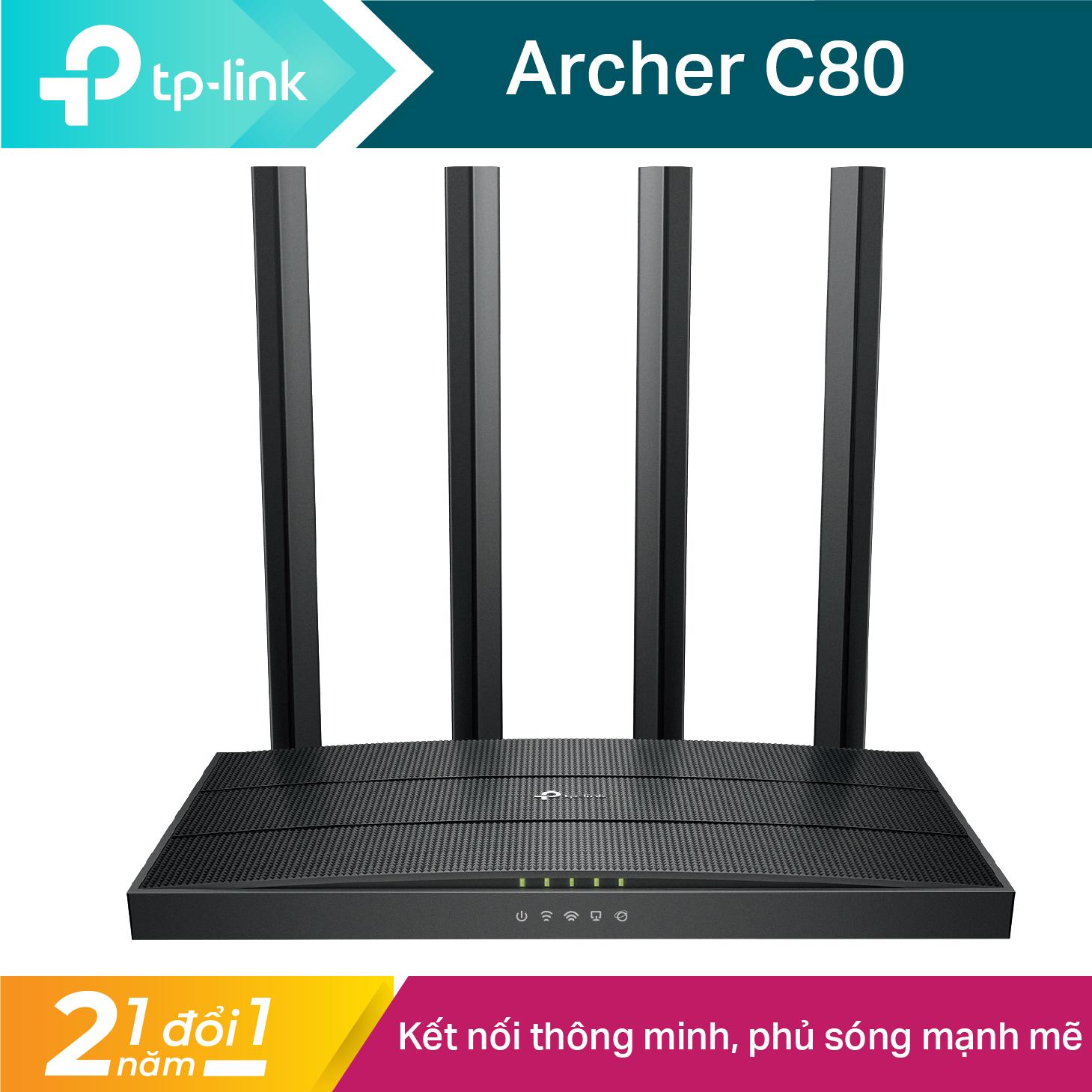 [🏆Router Cao Cấp🏆]Bộ phát wifi TP-Link băng tần kép MU-MIMO 3×3 AC1900 – Router wifi hiệu suất cao Archer C80 Hãng phân phối chính thức – Modem wifi TP Link Cục phát wifi TPLink -Bo phat wifi TPLink