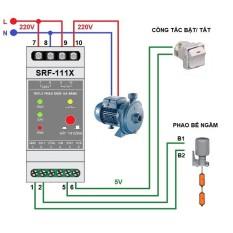 Rơle phao bơm điện- chống giật an toàn- tải max 1200w máy bơm(tải trở: 20A)