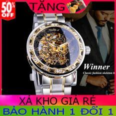 Đồng hồ cơ nam Winner TM02-Đồng hồ nam Winner Siêu đẹp-Đồng hồ cơ lộ máy-Đồng hồ nam dây thép đúc đặc không gỉ-Mặt chống xước-Đồng hồ chống nước-Đồng hồ nam giá rẻ-Có quà tặng