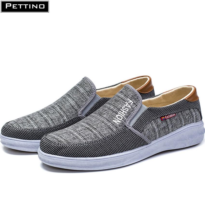 Giày Lười Vải Nam thoáng khí mát mẻ phù hợp với mọi kiểu trang phục Pettino LLKL03