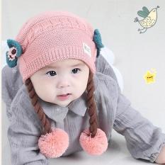 Mũ len tóc giả siêu cute cho bé