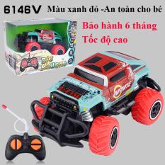Xe điều khiển từ xa tốc độ cao, nhựa ABS an toàn cho bé [bảo hành 6 tháng] xe đồ chơi oto, xe địa hình điều khiển từ xa màu đỏ xanh