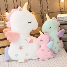 Kì lân ngủ siêu dễ thương chất mềm màu hồng, xanh, trắng kích thước 70cm