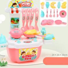 Bộ đồ chơi nấu ăn 20 món kèm bàn bếp và tủ bếp bằng nhựa nguyên sinh ABS an toàn cho bé yêu Diabrand