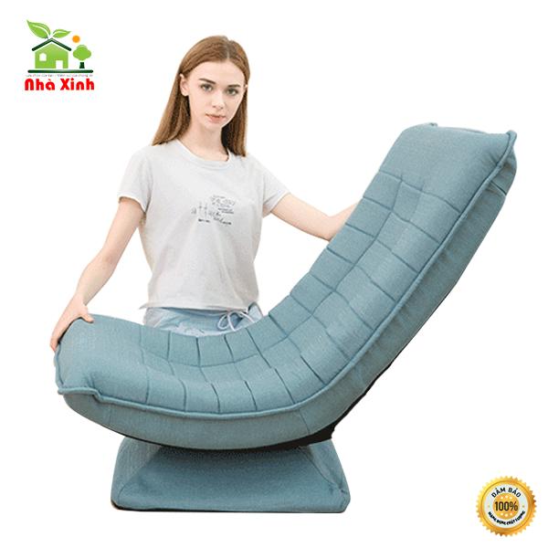 Ghế thư giãn,Ghế xoay 360 độ để nghỉ ngơi, đẹp thời trang KT : 80 x 57 cm ( Màu Xanh Lam, Màu Nâu ) – M008