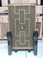 [ĐƯỢC THỬ LOA ] Loa kéo di động karaoke Kiomic K89 kèm 2 mic thùng gỗ hát siêu hay