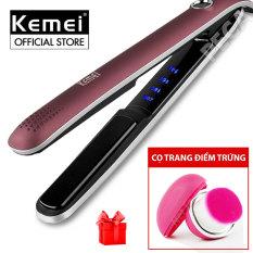 Máy duỗi tóc điều chỉnh 4 mức nhiệt độ Kemei KM-2203 chuyên nghiệp phù hợp với mọi loại tóc có thể dùng ép thẳng, uốn cụp, uốn xoăn gợn sóng – [HÀNG CHÍNH HÃNG]