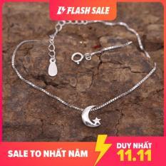 Lắc Chân Bạc Nữ Mặt Trăng LC1770 bảo ngọc jewelry