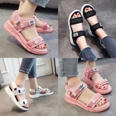 Sandal nữ siêu nhẹ quai vải DSY đế êm nhẹ 3 màu cực cute (sandal nữ đi học, sinh viên)