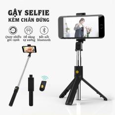 Gậy tự sướng K08 kiêm giá đỡ điện thoại kèm remote bluetooth, gậy chụp hình mọi lúc mọi nơi