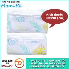 Bộ 2 tấm lót chống thấm vải sợi tre cho bé 60×90 Mamaru MA-LOT60X90 – Diệt khuẩn, hút ẩm tốt, kháng tia UV – Dmall247, mẹ và bé