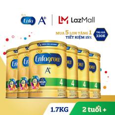 [FREESHIP MAX] Thùng 6 lon sữa bột Enfagrow 4 cho trẻ trên 2 tuổi 1.7kg (Mua 5 tặng 1) – Cam kết HSD còn ít nhất 10 tháng – Giới hạn 1 sản phẩm/khách hàng