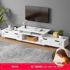 Kệ tivi A1960 (120-190)*30*36cm gỗ MDF phủ melamin chống thấm (Màu trắng)