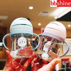 [HCM]Bình tập uống nước cho bé Bình nước cho bé có van chống sặc cao cấp 250ml bằng nhựa PP chịu nhiệt tốt có tay cầm tiện lợi BBShine – BN009