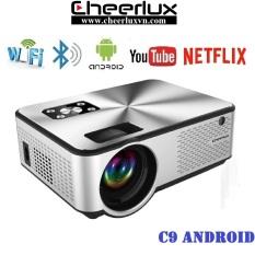 [Trả góp 0%]Máy chiếu mini android 6.0 projector Cheerlux C9 HD+ kết nối WIFI Bluethooth độ sáng 2800 lumens thay thế tivi 100 inch trong phòng ngủ. BH 12 tháng.