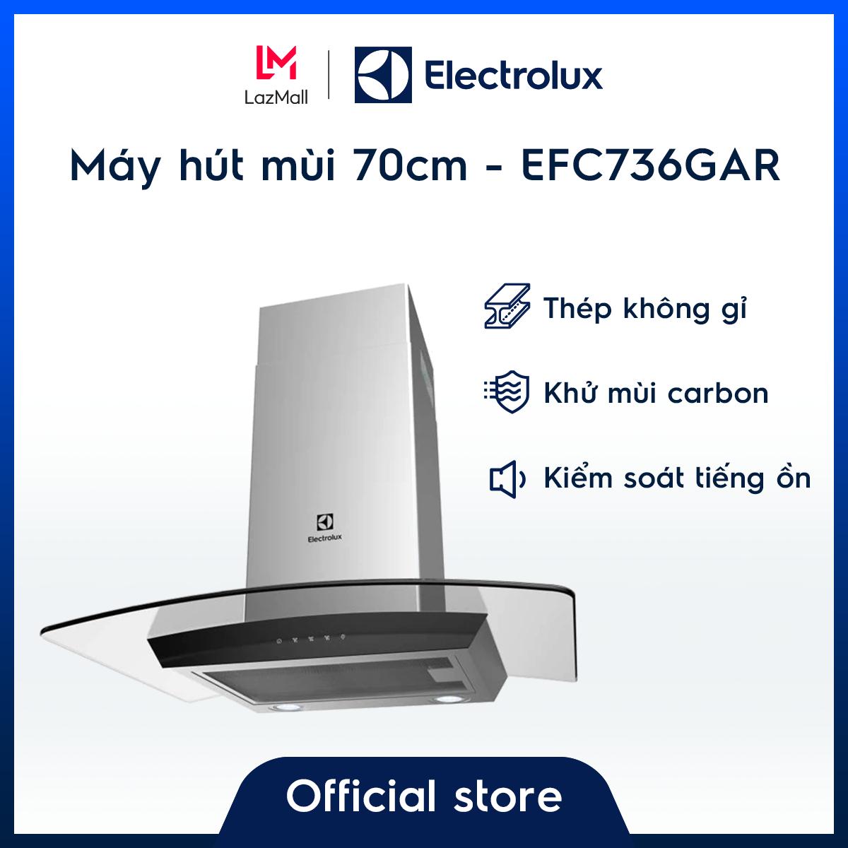 Máy hút mùi gắn tường 70cm Electrolux EFC736GAR – Thiết kế sang trọng – Bộ lọc đa lớp – Hàng chính hãng