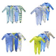 Set 3 Áo Liền Quần Có Tất Baby Gear Đẹp Cho Bé Trai (Các Mẫu Giống Hình)