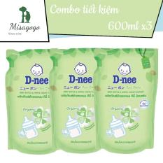 Combo 3 túi nước rửa bình sữa Dnee 600ml Thái Lan – Misagogo
