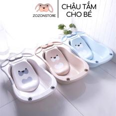 Chậu tắm cho bé, thau tắm cho trẻ sơ sinh – 5 tuổi hình ếch nhựa PP an toàn chống trượt Zozon