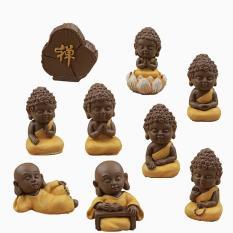 Bộ 9 tượng phật may mắn đem lại bình an tài lộc trong nhà Maitoshi thích hợp để trên bàn làm việc xe ô tô kệ trưng bày giúp không gian thêm phần sinh động