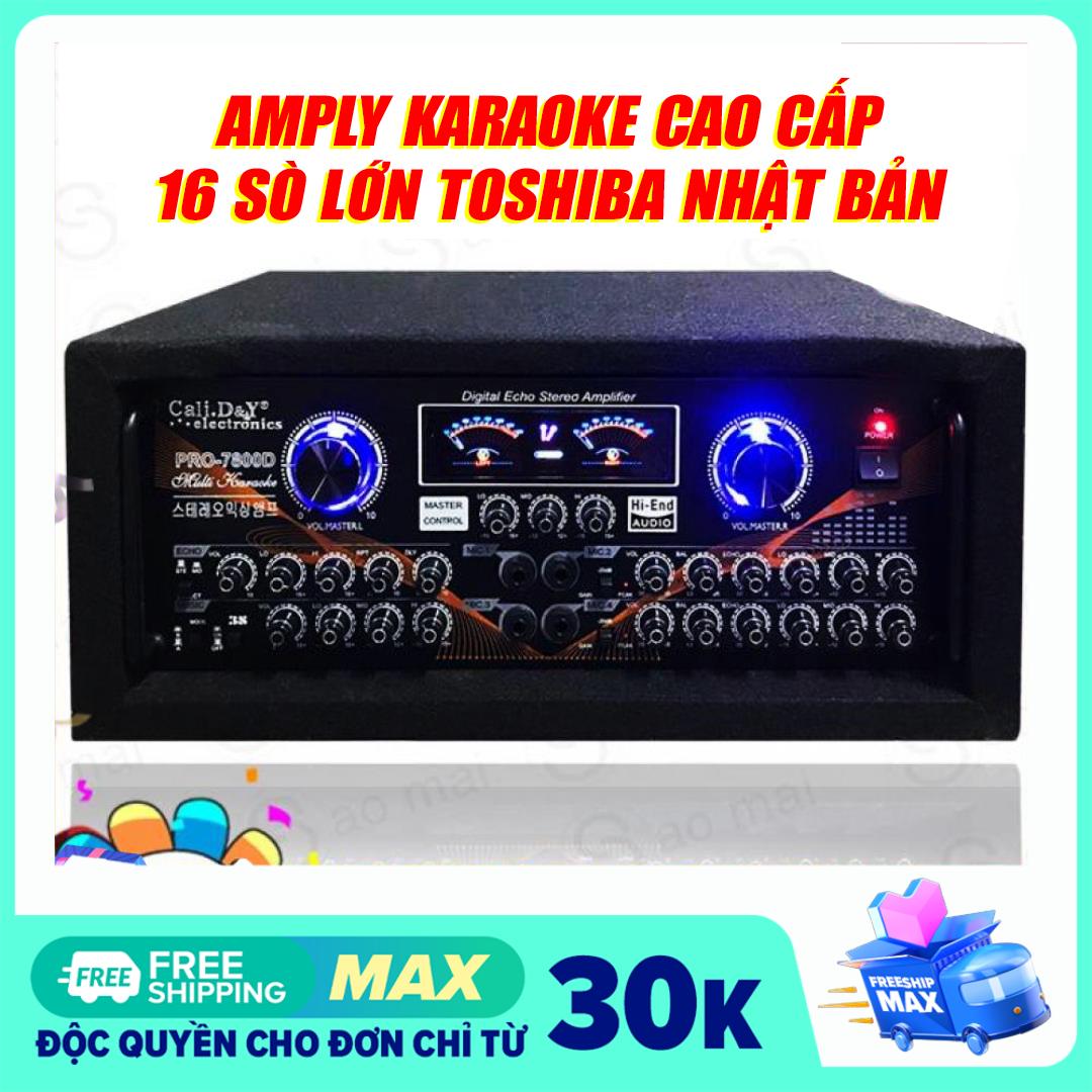 Đánh mạnh lực, Ampli 16 sò Toshiba Japan thùng bọc nỉ, Amply Sân Khấu Karaoke Hội Thảo Gia Đình Cali.D&Y PRO-7800D ( Tặng USB Bluetooth ) – TẶNG NGAY 2 MICRO KHÔNG DÂY HÁT CỰC HAY TRONG THÁNG NÀY
