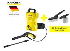 Combo máy phun rửa áp lực cao K2 basic oj và bộ đầu chà bình xịt