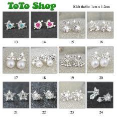 [01 đôi tùy chọn mẫu] Bông tai phong cách Hàn Quốc siêu dễ thương BSTKNu – [ToToShop]