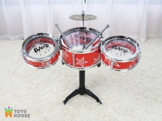 Đồ chơi hướng nghiệp – Bộ trống Jazz Drum cho bé Toyshouse – Nhạc cụ, âm nhạc cho bé yêu