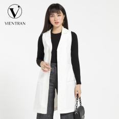 Áo gile nữ dáng dài Vien Tran V65G19T009 (Nhiều màu)