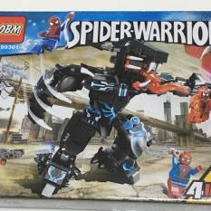 bộ đồ chơi lego lắp ghép siêu nhân biến hình thành người nhện