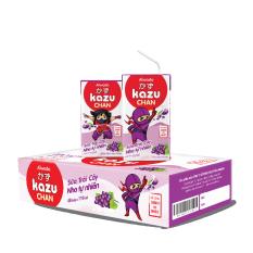[Tinh tuý dưỡng chất Nhật Bản] Kazu Chan – Sữa trái cây Nho tự nhiên (Thùng 48 hộp 110ml)