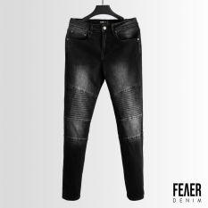 Quần Jeans nam FEAER 100% chất Jean bền bỉ, co dãn Slim Fit Wash Line