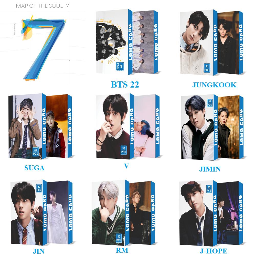 New Lomo BTS Mẫu Mới Map Of The Soul 7 30 Lomo Card Cực Đẹp