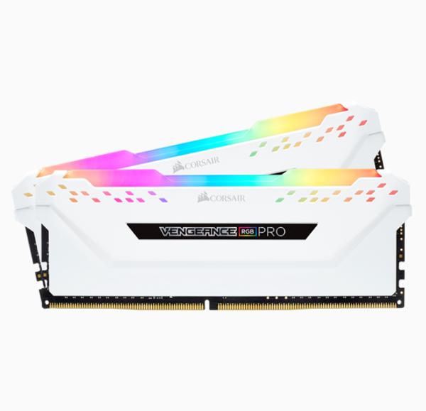 RAM PC CORSAIR VENGEANCE PRO RGB 16GB DDR4 2x8G 3000MHz CMW16GX4M2C3000C15W TRẮNG