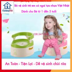 [Nhựa Việt Nhật] Bô Vệ Sinh Cho Bé Có Ngai Tựa Lưng Tiện Lợi