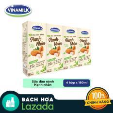 Lốc 4 hộp Sữa Đậu Nành Vinamilk Hạnh nhân 180ml