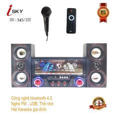 Dàn âm thanh tại nhà – loa vi tính hát karaoke có kết nối Bluetooth USB Isky – SK345/SK335U siêu bass hai kênh 2.1 Tặng kèm mic hát
