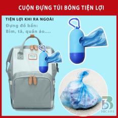 Hộp đựng túi bóng đa năng tiện lợi có móc treo balo, xe đẩy, nhỏ gọn dễ mang theo để đựng tã, bỉm, quần áo… cho bé