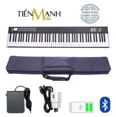 Đàn Piano Điện Bora BX-II – 88 Phím nặng Cảm ứng lực BX-02 – Midi Keyboard Controllers BX2 BXII (Kết nối máy tính và điện thoại, Bluetooth, Pin sạc, Loa lớn – Phần mềm và Hướng dẫn Tiếng Việt -Tặng bao đựng)
