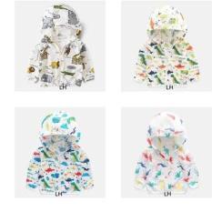 Áo khoác cho bé trai và bé gái chống tia UV chất đũi hàn mỏng nhẹ cho bé từ 1 tuổi đên 7 tuổi( nhiều màu ngẫu nhiên)
