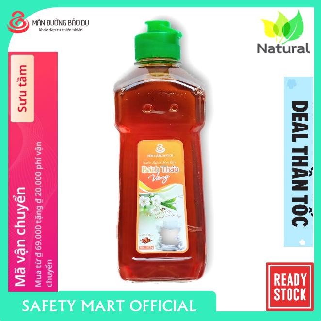 [BÁN CHẠY] Nước rửa chén thảo dược Bách Thảo vàng hương quế chiết xuất thiên nhiên không hại da tay – Chai 500g