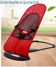 Ghế rung nhún có thanh treo – Tặng kèm đồ chơi cho bé tải trọng 25kg dễ dàng di chuyển đi xa có đai an toàn 3 điểm, Ghế rung, Ghế nằm, Ghế nhún khung thép cao cấp an toàn cho bé