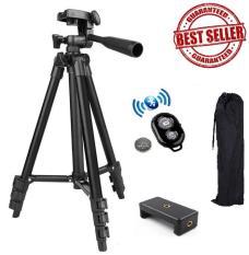 ✔️✔️ Chân đế chụp hình Tripod 3120 (Đen) + Tặng 1 Remote chụp hình Bluetooth + 1 Gá kẹp điện thoại loại 002